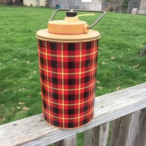 Vintage Plaid Thermos Picnic The Skotch Jug